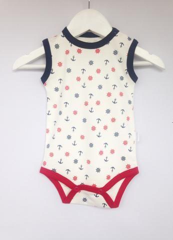 Baby Pima   Body Regata Timoneiro   100% algodão Pima