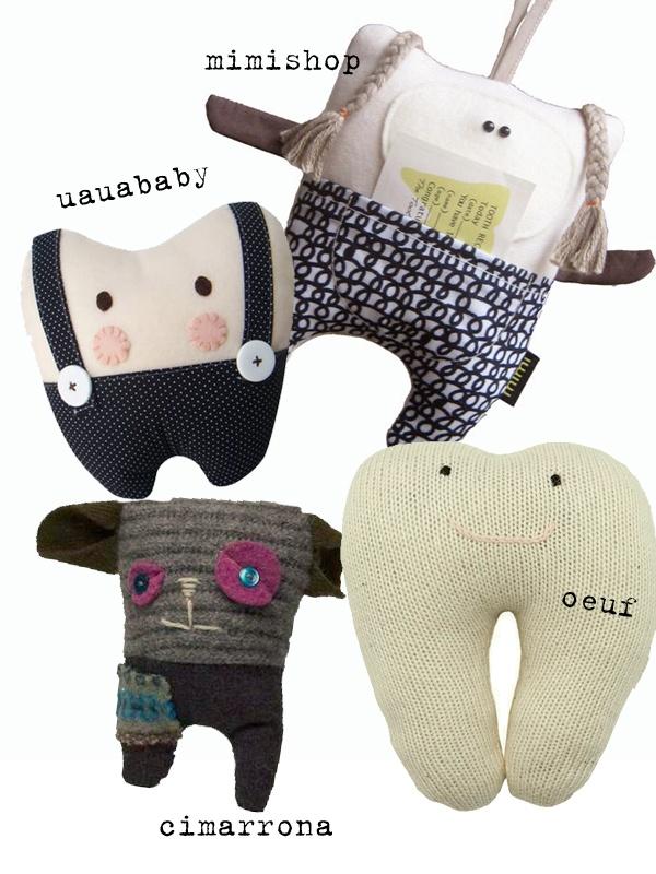 Cute tooth fairy pillows http://knuffelsalacarteblog.blogspot.nl/ cuddly toys Pinterest ...