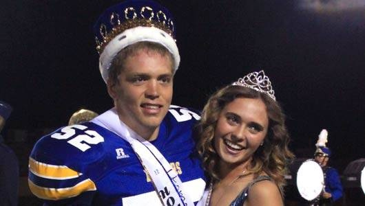 Zach Koehler and Abby Boaz, Prescott High School's Homecoming King and Queen.