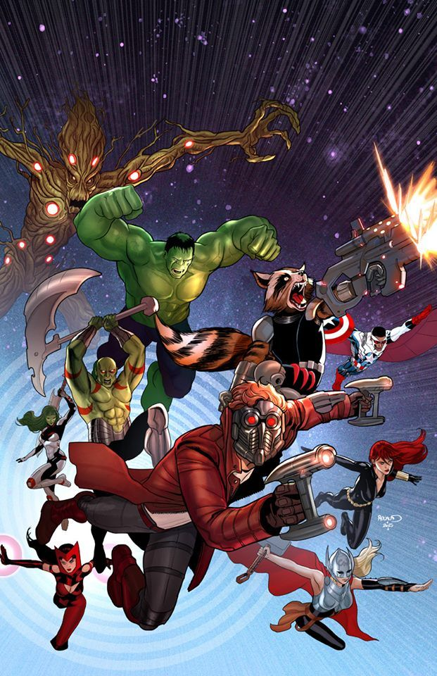 Guardians of the Galaxy and Avengers by Paul Renaud