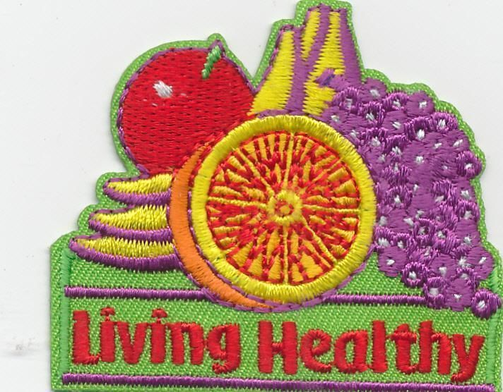 ebay Girl Boy Cub LIVING HEALTHY Eating Veggies Fun Patches Crests Badges SCOUT GUIDE