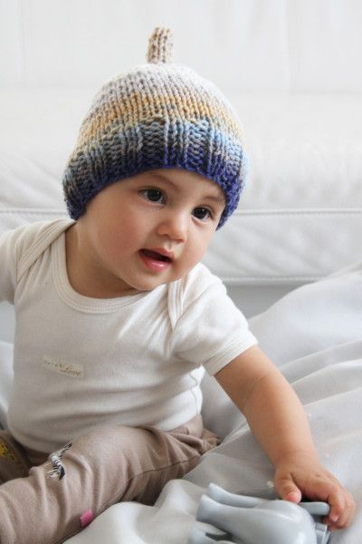 Pletená dětská čepička pro malého skřítka / Knitted kids hat cap