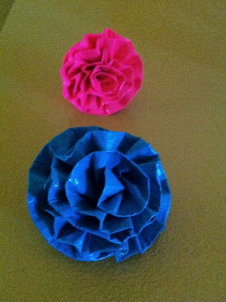 Tape flowers on pinterest duck tape flower pens and duct tape