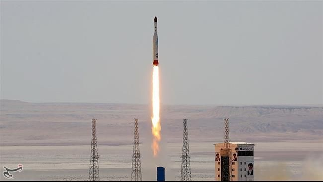 Simorgh rocket is launched and tested at the Imam Khomeini Space Centre, Iran, in this handout photo released by Tasnim News Agency on July 27, 2017.