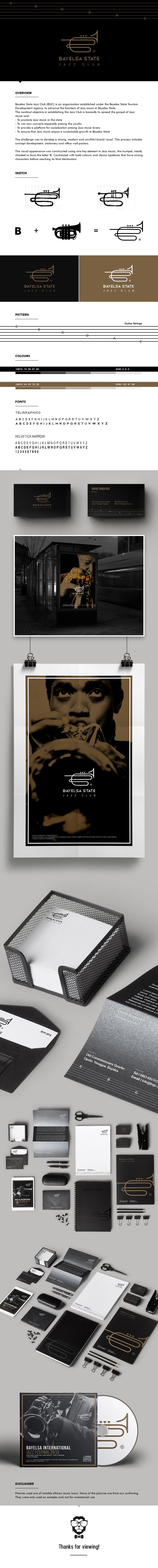 Bayelsa State Jazz Club | Thomas Peretu - I love how they have carried the branding across and into the photographic content. Also the inclusion of the guitar strings/tab as a secondary design element is really nice and relates directly to their subject matter.