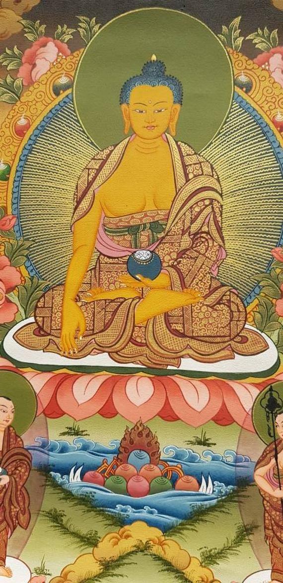 Shakyamuni Buddha The First Buddha 24k Carat Gold