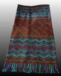 2012 L.A. County Fair Blue Ribbon Award recipient!  Love the teal and brown together on this swedish weave!  It's called the Trellis Afghan Chart Pack.