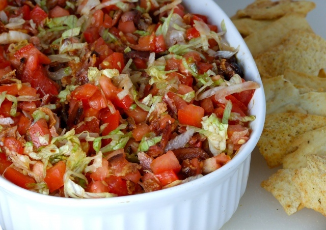 BLT dip...do I smell a superbowl dish in the future!? Yum can't wait to try this!!!!