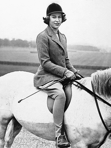 A young Elizabeth.
