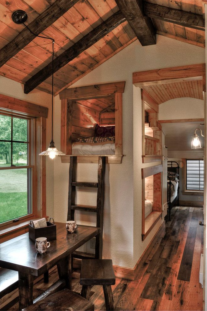 Tree House Loft Bed Rustic Kids with Built in Beds
