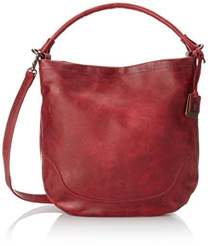 FRYE Melissa Hobo, Burgundy, One Size