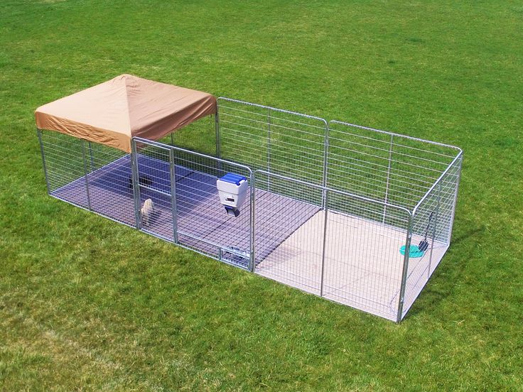 8' X 24' Large Professional dog kennel. All panels are galvanized for long life. Includes heavy duty canvas top & flooring.