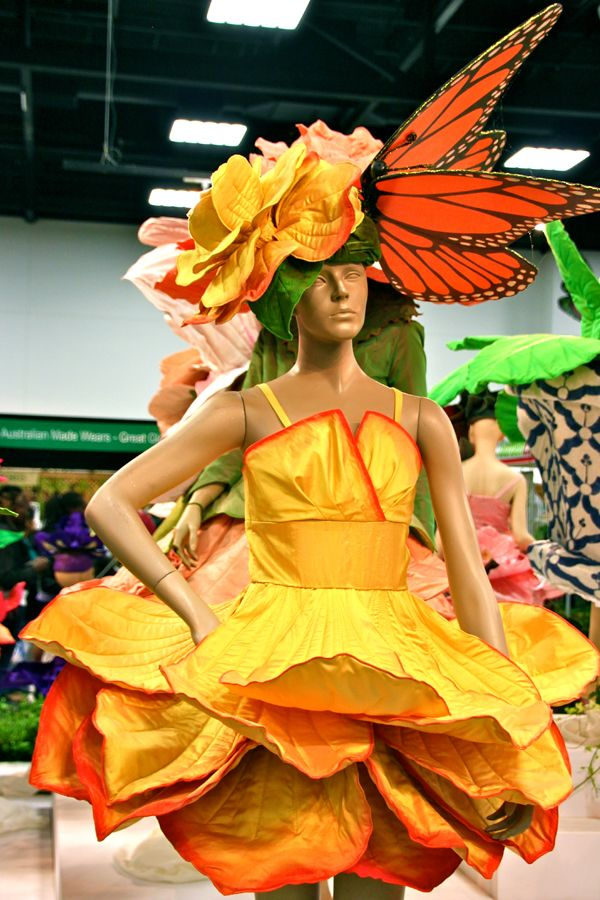 flower hat or costume | ... tailored to look like a rose petal complete with butterfly on the hat