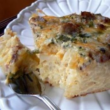 Farmer's Casserole: Casseroles Recipes, Hashbrown, Mornings Breakfast, Breakfast Casseroles, Farmers Casseroles, Hash Brown, Mih Products, Christmas Mornings, Green Onions