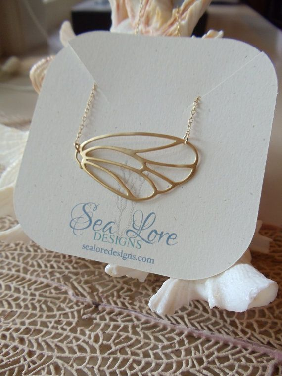 BUTTERFLY WING Necklace ethereal necklace by SeaLoreDesigns, $42.00