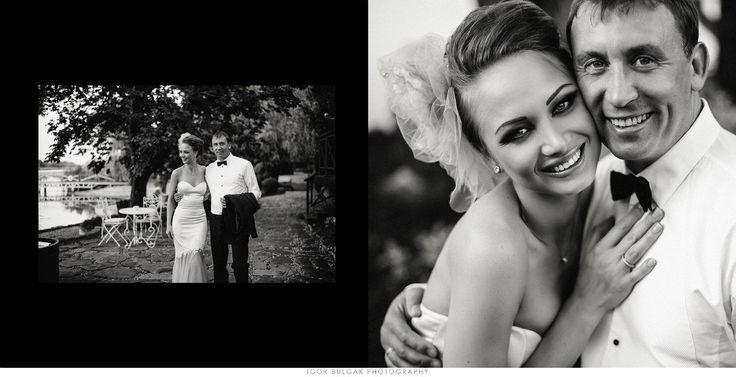 Крупный портрет невесты и жениха- лица
