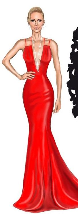 Charlize Theron in Dior by David Mandeiro Illustrations.