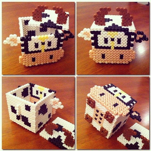Caja vaca 3d