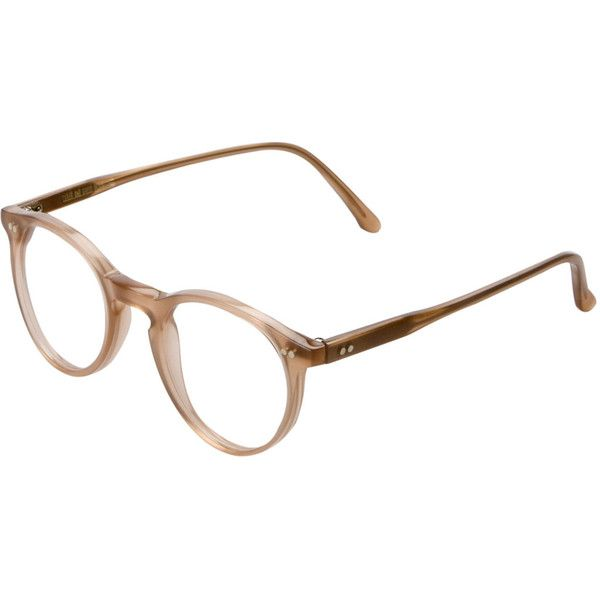 Brown Round Clear Lens Glasses, Cutler and Gross (10.050 UYU) ❤ liked on Polyvore featuring accessories, eyewear, eyeglasses, glasses, sunglasses, fillers, cutler and gross, cutler and gross glasses, round eyewear and rounded glasses