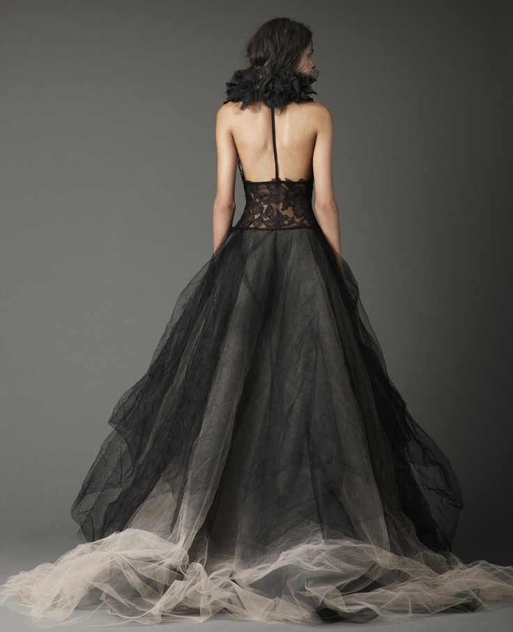 Vera Wang, I never thought a bridal gown in black could look this fantastic.      The Wedding Boutique  22 The Square   Dalston Ca5 7PY  01228 710588    www.bridalshoesuk.co.uk