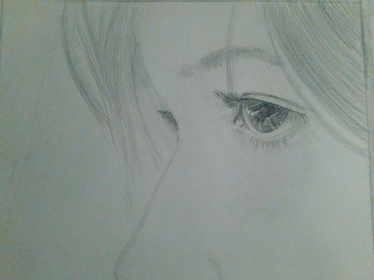 Krásna žena - kresba
