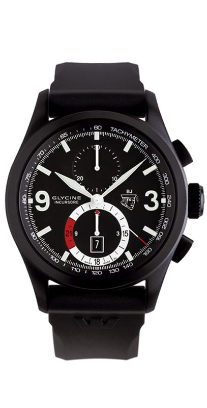 GLYCINE INCURSORE Black Jack Automatic Chronograph Ref. 3879.99-D9 - Swiss made watches - SwissTime