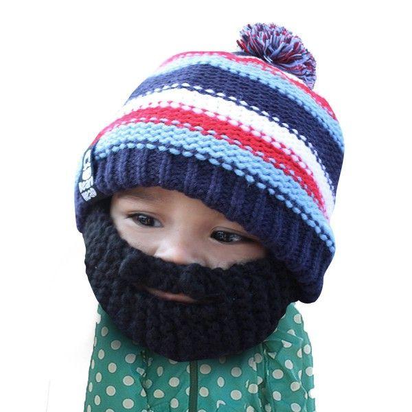 Découvrez ce bonnet barbe pour enfant, grâce auquel vous pourrez garder la  tête de votre