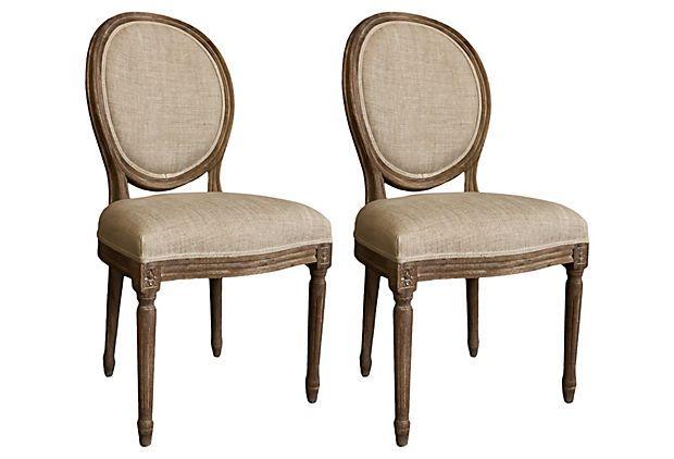 Pierre Round Back Chair, Pair on OneKingsLane.com