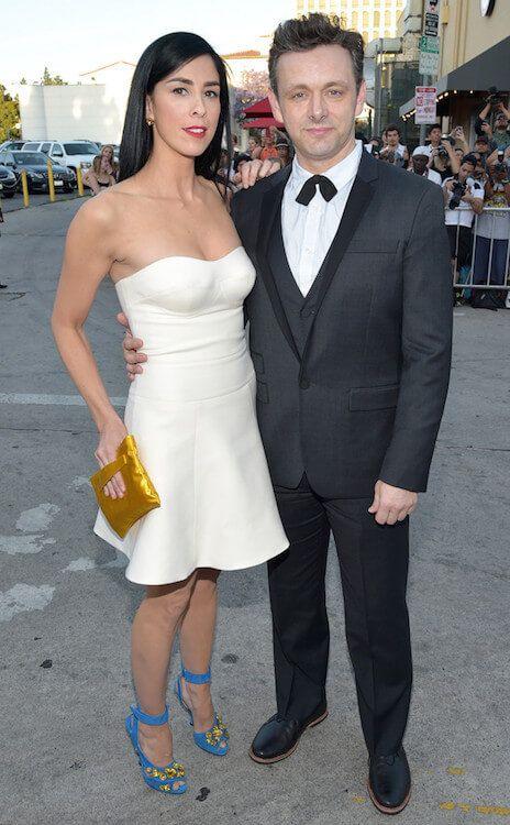 Comedian Sarah Silverman and Michael Sheen...