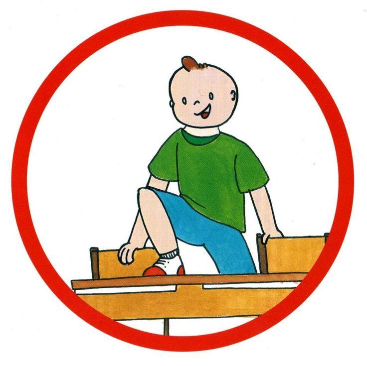 Ne pas monter sur les tables | Ecole Pictogrammes