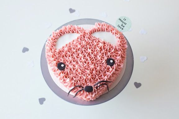 Pink Heart Mouse Cake | Coco Cake Land