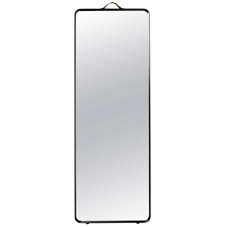 Rectangular Floor Mirror by Norm Architects, in Black or White Aluminum 1