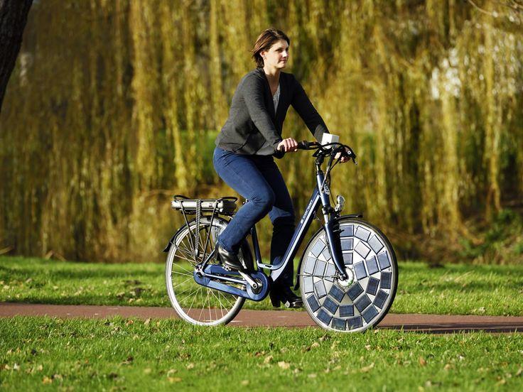 Bicicleta eléctrica solar que no necesita conectarse @tecnigreen