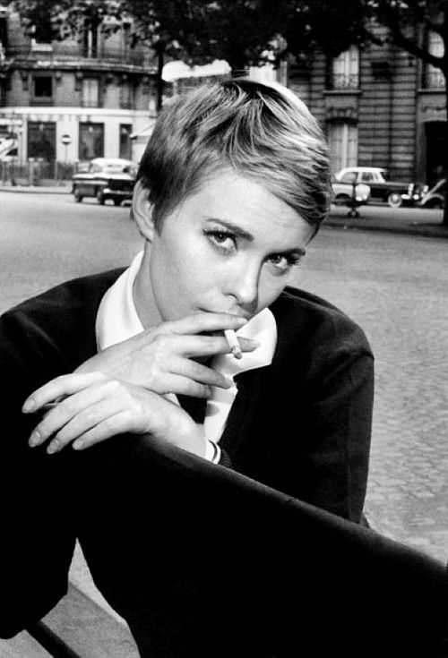 Jean Seberg in Paris, 1960s.