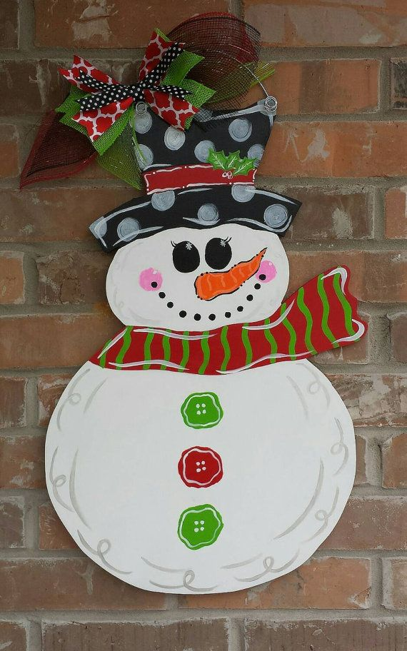 Hey, I found this really awesome Etsy listing at https://www.etsy.com/listing/211293899/hand-painted-snowman-door-hanger