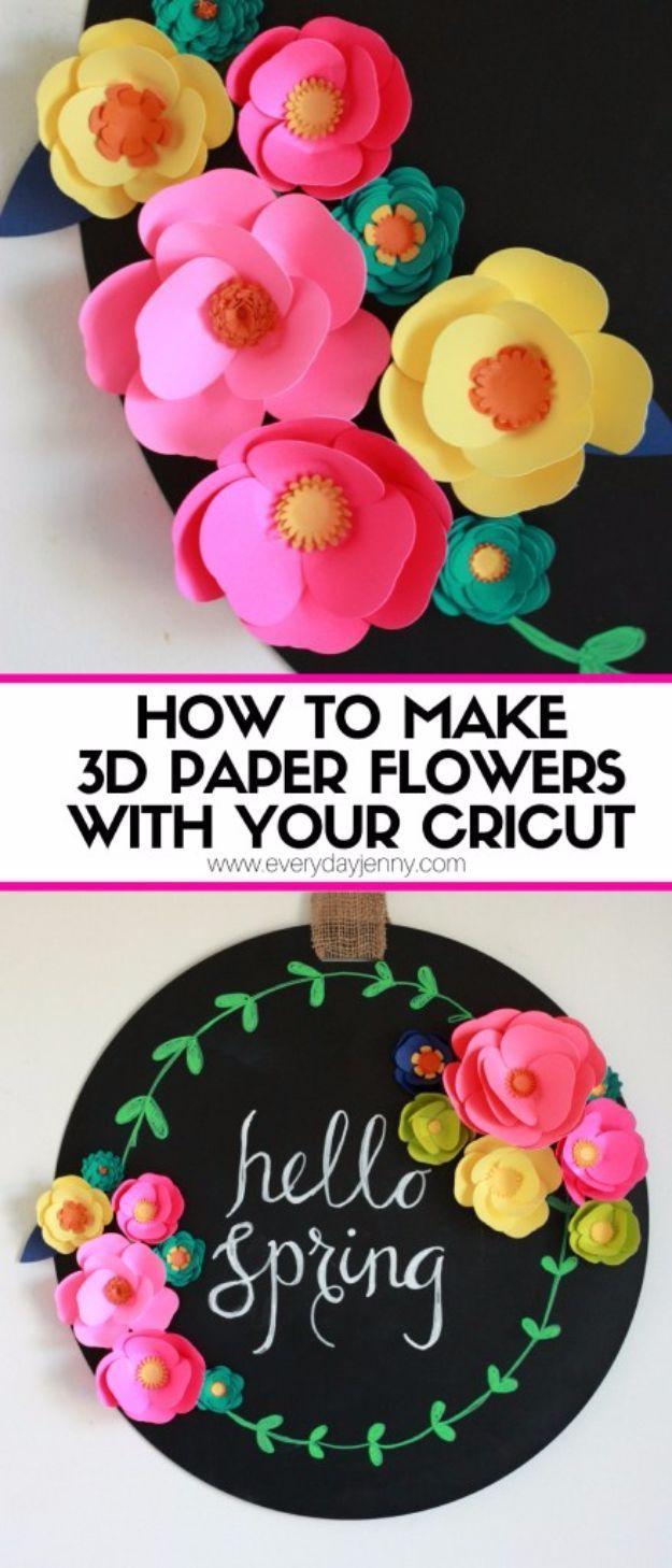 Pin By Stephanie Vidales On Flowers Cricut 3d Paper Flowers