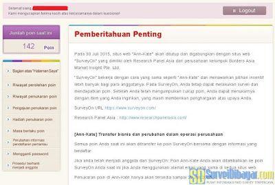Ann-Kate Indonesia Ditutup dan Bergabung dengan SurveyOn | SurveiDibayar.com