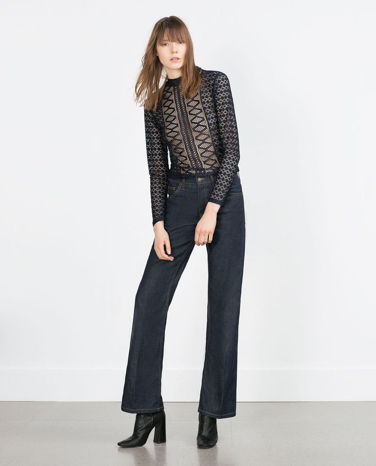 LACE T-SHIRT-View all-Tops-WOMAN   ZARA United States