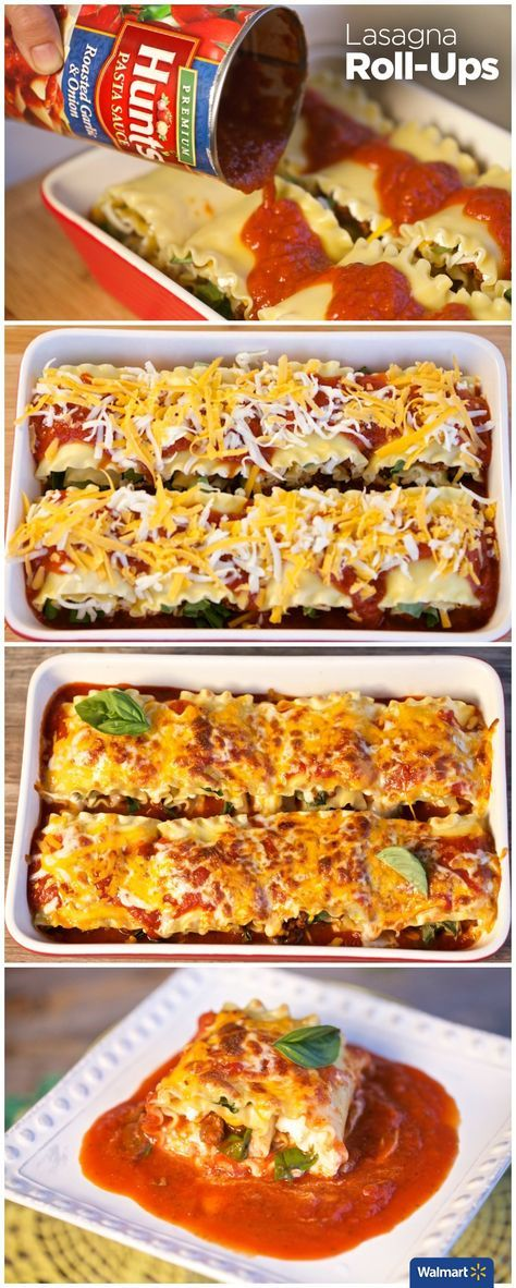 Manwich Lasagna Roll-Ups   Walmart – Put a spin on sloppy joe's with this easy, delicious dinner idea. After cooking the meat and lasagna noodles, let the kids help roll-up all the ingredients into the Lasagna Roll.