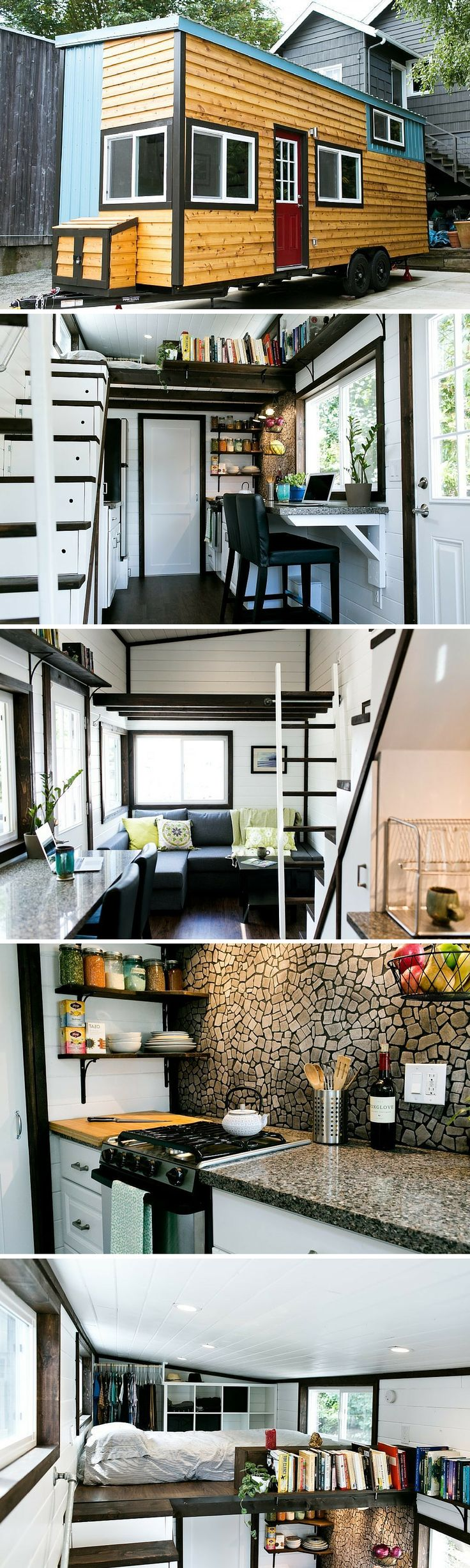 Not Your Average Tiny House: a unique, luxury tiny house with a beautiful design, inside and out