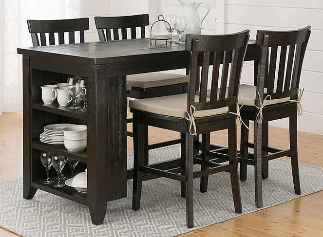 Prospect Creek 5 Pc Counter Height Dining Set W Storage Dining