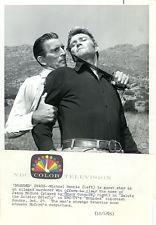 MICHAEL RENNIE BATTLES CHUCK CONNORS BRANDED ORIGINAL 1965 NBC TV PHOTO