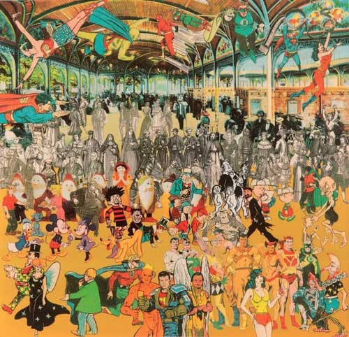 Sir Peter Blake - Vichy, a convention of comic book characters