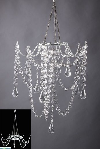 DIY Chandelier - cool website to shop for cool, crafty stuff - wish-upon-a-wedding