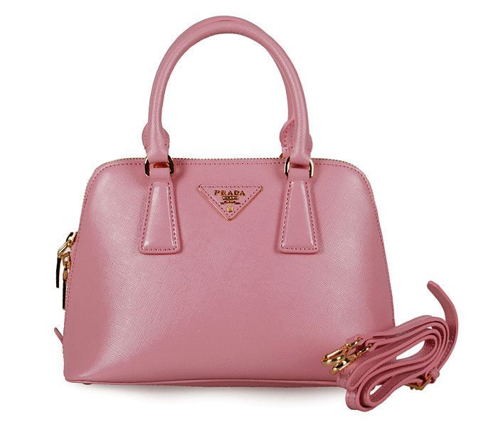 Prada BL0838 pink Saffiano Leather 25cm Two Handle Bag Replica Prada bag  cheap prada bag designer
