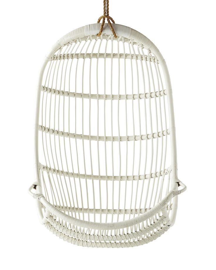 A stylish addition to any room of the home | Hanging Rattan Chair via Serena & Lily