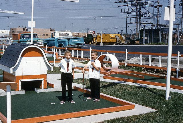 Putt Putt course at Southgate, Maple Heights, Ohio 1963