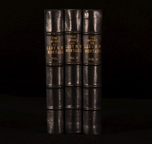 1837 3 vol The Letters and Works of Lady Mary Wortley Montagu Wharncliffe 2nd Edition.
