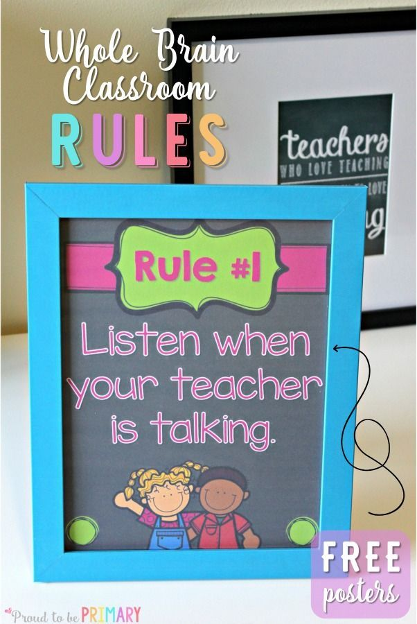 Do you use Whole Brain teaching as a classroom management approach with your students? Teach children the Whole Brain rules that are active, fun, and help them retain the important classroom rules! Head here for FREE printable posters!                                                                                                                                                                                 More