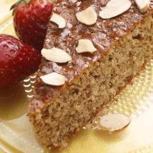 Flourless Honey-Almond Cake  Honey and almonds flavor this simple (and gluten-free) cake. It's lovely for afternoon tea or a spring holiday dessert. Be careful not to overbeat the egg whites—they should be white and very foamy, but not at all stiff or able to hold peaks. If you beat them too much, the cake may sink in the middle as it cools.